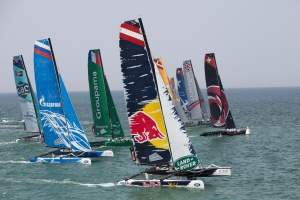 The Extreme Sailing Series 2014. Act 2. Muscat.  Credit - Lloyd Images