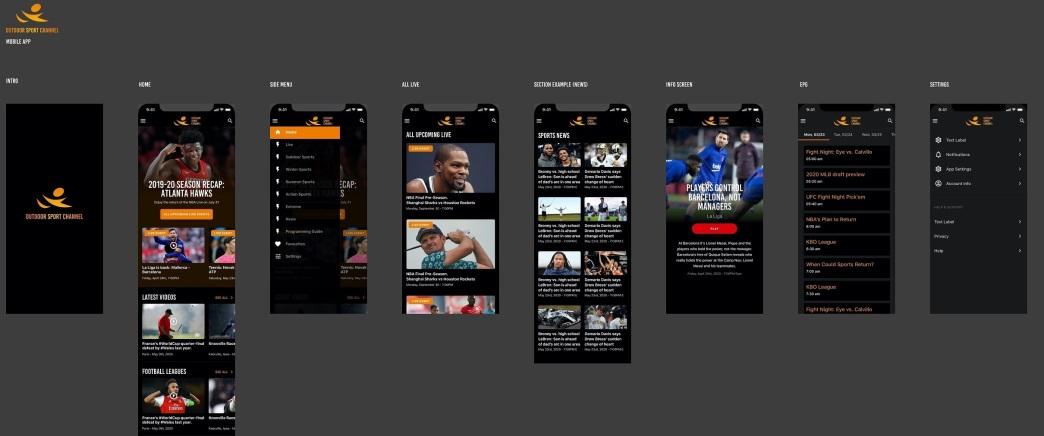 Outdoor Sport Channel® APP design2